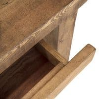 Wansbeck Rustic Wood Desk with Drawer | Home Office